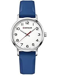 Wenger Women's 'Sport' Swiss Quartz Stainless Steel and Silicone Casual Watch, Color:Blue (Model: 01.1621.107)