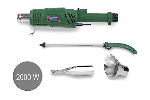 WOLFGANG® Profi Unkrautbrenner elektrisch | Unkrautvernichter | Abflammgerät | BIO - OHNE Gas & Chemie | 2000 Watt | Temperatur wahlweise 50 und 600 Grad