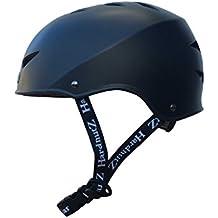 HardnutZ calle casco de ciclo de HN102, Unisex, color negro, tamaño 58 - 61 cm