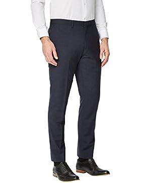 next Hombre Traje Corte Entallado Cuadros Signature: Pantalones Corte Ajustado