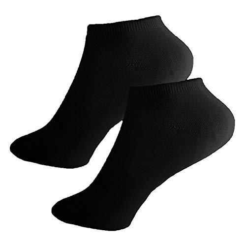 L&K-II 12 Paar Damen Sneaker-Socken Füßlinge 35/38,Schwarz