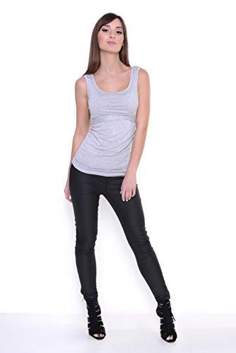 Sommer Shirt in 4 Farben Gr. XS S M L XL 2XL 3XL 4XL, 8200 Grau Meliert