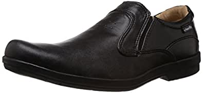 Red Chief Men's Black Leather Loafers 11-UK