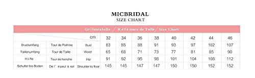 MicBridal® 2017 Damen Sonderangebot One Shoulder Herzförmig Chiffon Lang Abendkleid Ballkleid mit Schnürung Gelb
