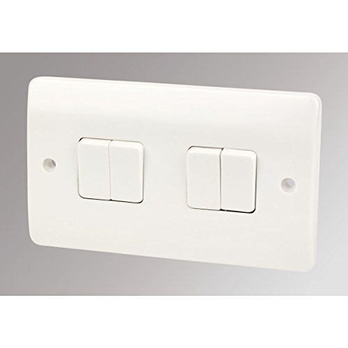 MK Logic Plus 4-Gang 2-Way 10AX Light Switch White by MK