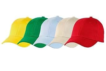 Lot de 5 casquettes Prestige enfant couleurs claires (Lot n°1)