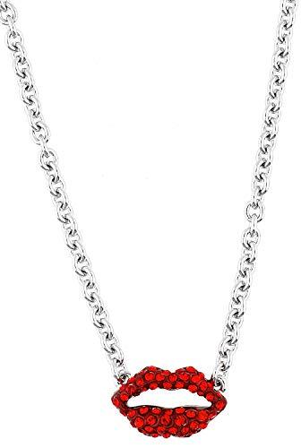 Guess Damen Halskette Metall Silber UBN12012