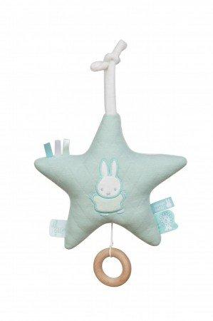 """Nijntje Hase Miffy""""Spieluhr Stern mint"""" Pastell Mobile mit Musik Stern Einschlafhilfe Junge Mädchen Kinder Baby Kinderzimmer Babybett"""