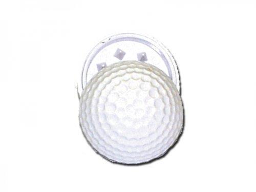Golfball Grinder - 40mm - Kugelgrinder in Golfball Design - Weiß, innen schwarz Mühle