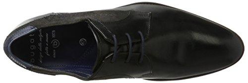 Bugatti 312164041034, Derby Uomo Nero (Black / Grey)