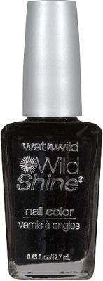 Wet N' Wild Wild Shine Nail Color - 485D Black Creme
