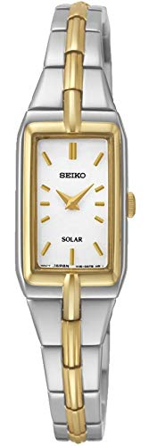 Seiko Damen Analog Solar Uhr mit Edelstahl Armband SUP272P9 - Uhr Damen Seiko Solar