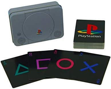 Paladone Pp4137ps PlayStation autres autres autres Cartes à jouer en boîte en étain en forme | Excellente Qualité  7968eb
