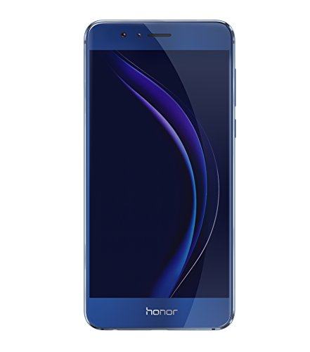 Honor 8 Smartphone 4G LTE, Display 5.2' IPS LCD, Octa-Core HiSilicon Kirin 950, 32 GB, 4 GB RAM, Doppia Fotocamera 12 MP, Blu