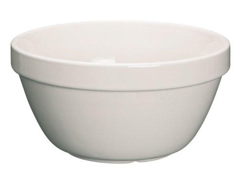 Kitchen Craft KCPUDCER42 Bol à Pudding, Mélange de Plusieurs matériaux, Blanc, 9 x 12 x 16 cm