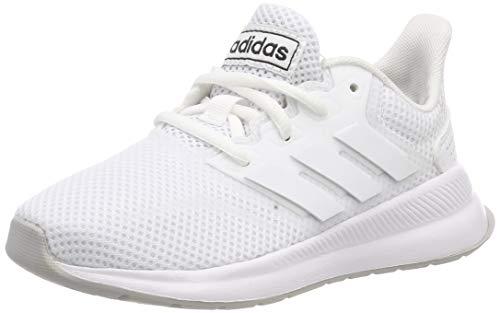 adidas Runfalcon K, Scarpe da Running Unisex Bambini, Bianco Ftwr White/Grey Two F17, 36.5 EU