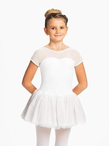 Capezio Sparkle 4 Layer Tutu Dress   Childrens Dance Wear (11350C) -White -Child Large Sparkle Tutu
