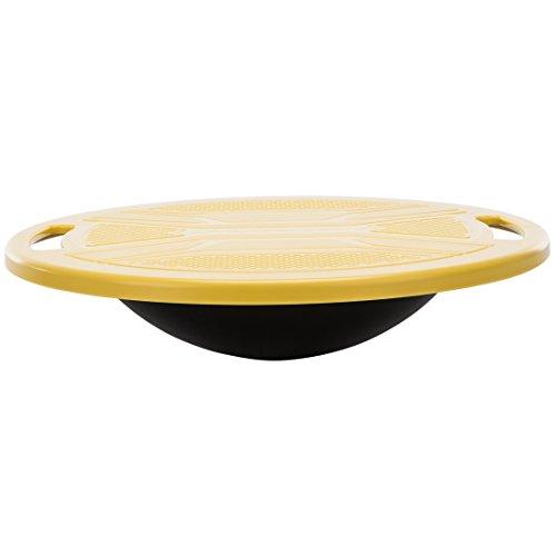 Ultrasport Balanceboard/Koordinationskreisel ø 36 cm - bis 100 Kg, Schwarz/Gelb