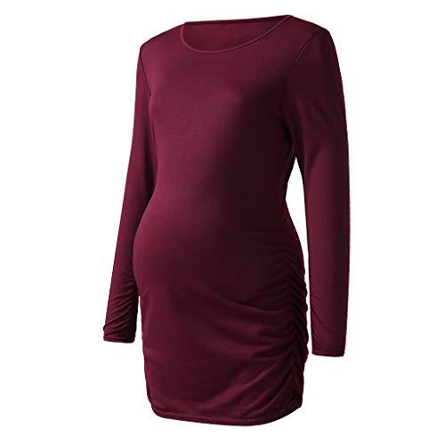 DAY8 Vêtement Femme Enceinte Hiver Pas Cher a la Mode Chemise Femme  Enceinte Automne Haut Femme eb1b160e909