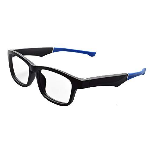 Bluetooth Sonnen Brille Drahtloser, ZQYR Stereo Kopfhörer Wireless Sports mit Mikrofon für IOS/Android,Schwarz