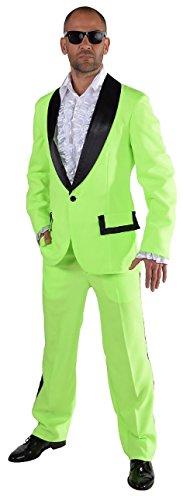 M214292-22-XXL neon grün Herren Smoking Jackett Hose ()
