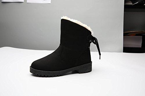 Snow Boots di grandi dimensioni più cotone inverno caldo cashmere scarpe antiscivolo. black