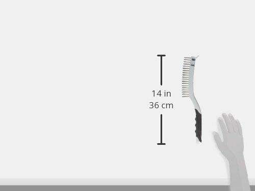 Silverline 156914 Edelstahl-Drahtbürste mit Schaber 3-reihig