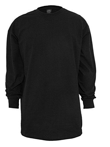 Urban Classics Herren Langarmshirt Tall Tee L/S Schwarz (Black 7)