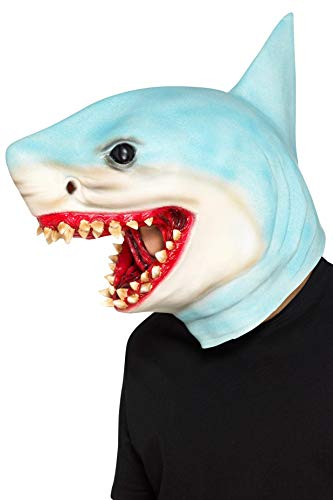 Smiffys SMIFFY 'S 48833Shark Overhead Maske, Unisex, Blau, One size