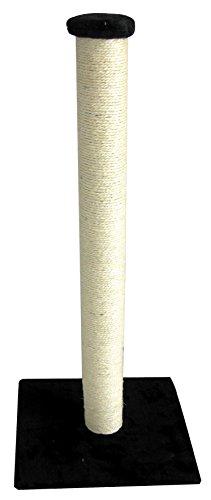 Europet Bernina 431-408674 Classic-Eco Katzenkratzbaum Highpost, 40 x 40 x 90 cm, Farbe schwarz