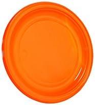 Piatti piani arancione Ø 22 cm Stoviglie monouso en plastica colorata DOpla 01566 (conf.30)