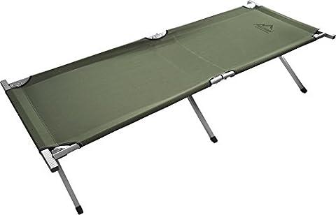 XXL Stabile Feldliege Campingbett Feldbett Farbe Oliv