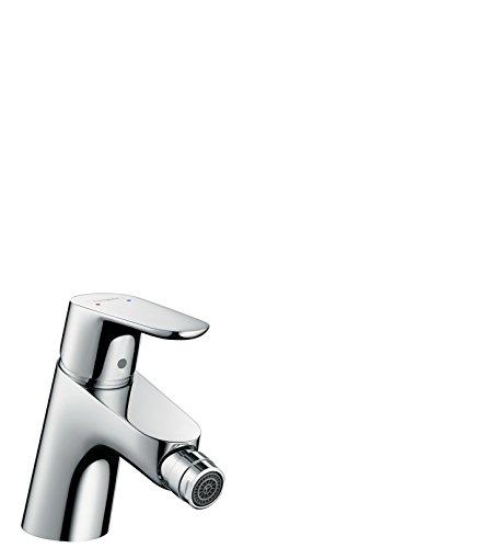hansgrohe Focus Einhebel-Bidetmischer mit Push-Open Ablaufgarnitur, chrom