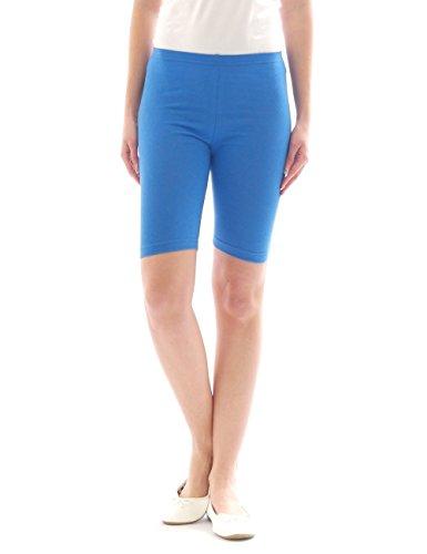 Femmes Sport Shorts Shorty Shorts Sport Radler court Leggings Coton Bleu