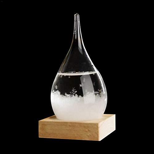 Wetter Sturmflasche Storm Glass Barometer,Desktop Transparent Kristallglas Wettersturm Prognose Flasche aus Wettervorhersage Wetterstation
