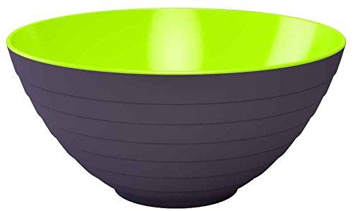 Zak Designs 2153-0321 Wave Saladier Stone/Vert 28 cm