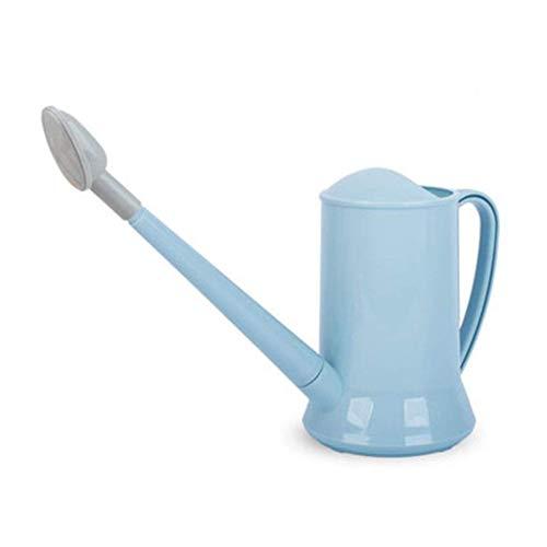 JKAD Große Gießkanne Große Kapazität Langer Mund Dickes Gießen Gartengeräte Strandspiele Grüner Blumentopf Gießkanne Wasserflasche 2L (Color : Blue) Blue Karaffe