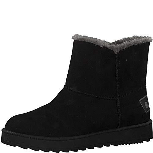 s.Oliver Damen Stiefeletten 26404-23, Frauen Stiefelette, Ladies feminin elegant Women's Woman Freizeit leger Stiefel Boot flach,Black,38 EU / 5 UK