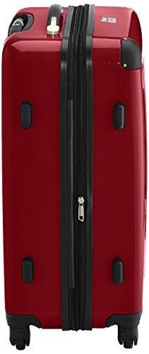 HAUPTSTADTKOFFER - Alex - 2er Koffer-Set Hartschale glänzend, TSA, 65 cm, 74 Liter, Aubergine-Silber Rot-Silber