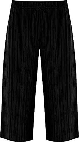 RIDDLED WITH STYLE Damen Panty mit Knittern, Stretch, Faltenhose, elastischer Bund - schwarz - 50-52 - Fancy Pants Panty