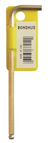 Bondhus 38049markiert und Barcode 1, 27mm Ball End Spitze Hex Schlüssel Innensechskantschlüssel mit GoldGuard Finish, 72mm