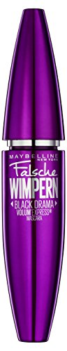 Maybelline New York Volum' Express Falsche Wimpern Black Drama Mascara, schwarz, 1er Pack (1 x 8,2 ml) (Wimpern-falsche Wimpern)