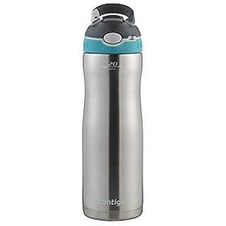 Contigo AUTOSPOUT Ashland Chill Water Bottle 20oz Scuba Blue w/ Straw Insulated