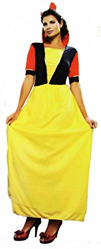 Wunderland Märchen Damen Frauen Kostüm Grösse 36 38 L Einheitsgrösse für Karneval Rotkäppchen Grimms Märchen Kostüm Cosplay Cape Kostüm Schneewittchen Rapunzel Aschenputtel (Disney Damen Kostüme Schneewittchen Princess)