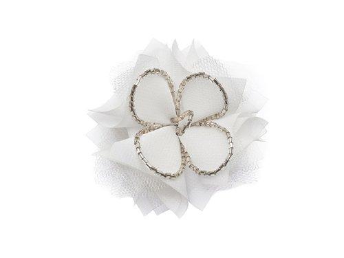 """La Loria - Donna Clip Decorative Per Scarpe """"Lucky Day"""" Gioielli, Spille, le clip del pattino in colore bianco - 1 Coppia"""