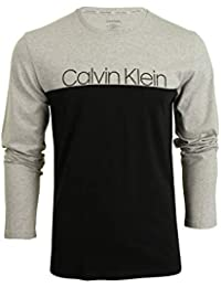 Calvin Klein Hombre Camiseta Longsleeved Graphic, Gris