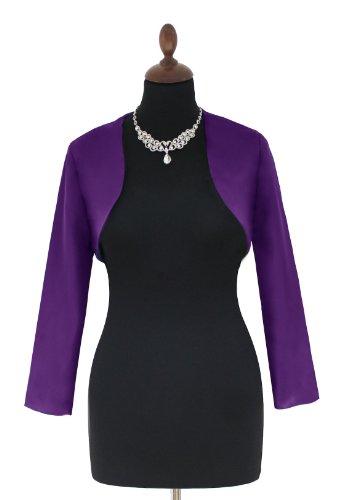 sexyher chiffon / matt in abito da sera, giacca bolero in vari colori