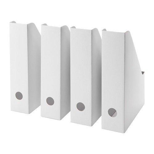 Ikea IKE-003.241.32 FLUNS Zeitschriftensammler in weiß; 4 Stück