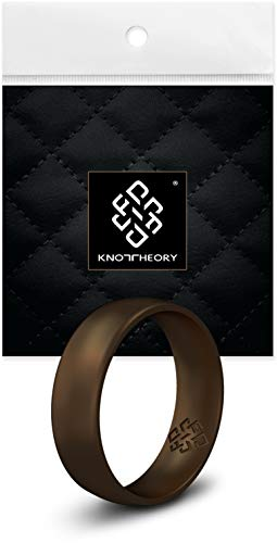 Knot Theory Silikon Hochzeitsring Ring/Ehering für Männer und Frauen in Schokoladenbronze - Bequeme Passform Größe 20.25 (6mm Ringbreite) (US-Größe 10.5) (Gummi Männer Hochzeit Für Ringe)