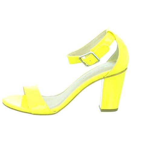 Tamaris 28376, Sandali con Zeppa Donna Giallo (Yellow 600)